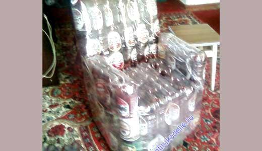 кресло из пластиковых бутылок - это просто!