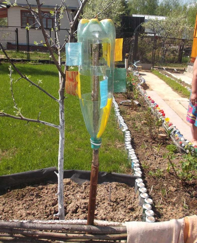 Ветряки из пластиковых бутылок своими руками