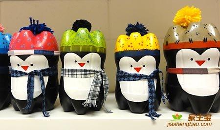 Забавные пингвины из пластиковых бутылок
