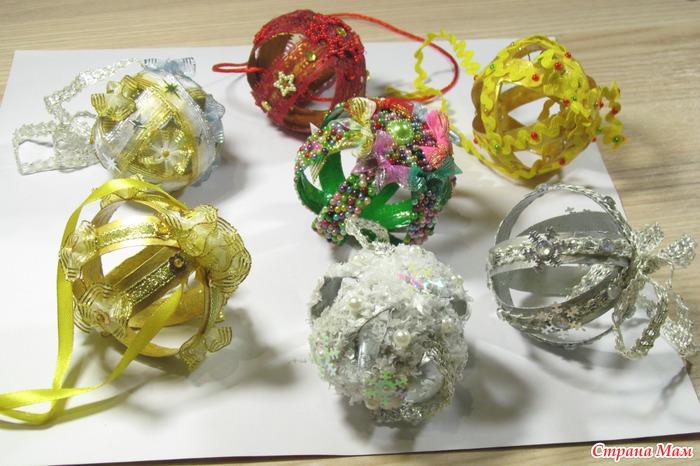 Елочные игрушки своими руками из пластиковых ложек
