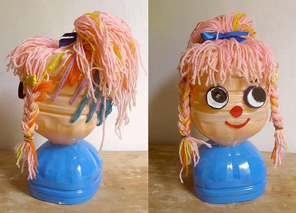 Куклы на бутылках своими руками