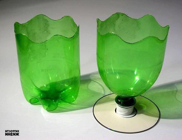 Как сделать вазу для цветов из пластиковой бутылки своими руками