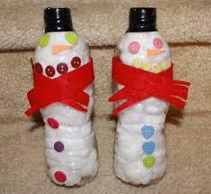 снеговики из пластиковой бутылки