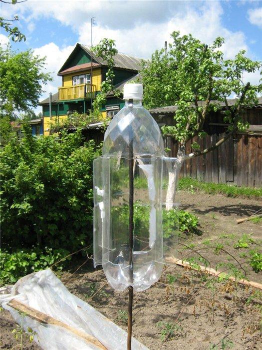 Отпугиватель землеройки своими руками из пластиковых бутылок