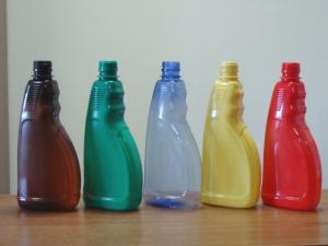 разноцветные бутылки для создания бисера своими руками